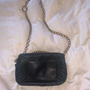 Henri Bendel Black Geunine Leather Bag